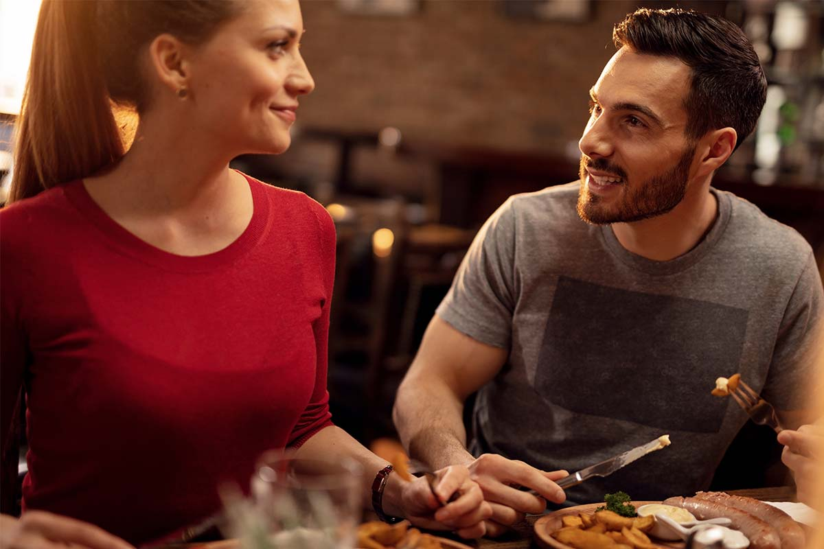 Restaurant, Paar beim Essen - Beispielbild Hotel Oberhof